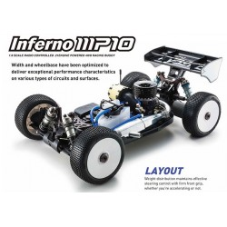 KIT INFERNO MP10 KYOSHO 1/8 Off-Road Competition Nitro Buggy