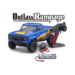 Outlaw Rampage EP 2WD 2RSA RS color Azul - 34361T2B